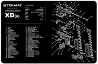 TekMat Springfield XDS Gun Cleaning Mat With Exploded Parts View (17XDS)
