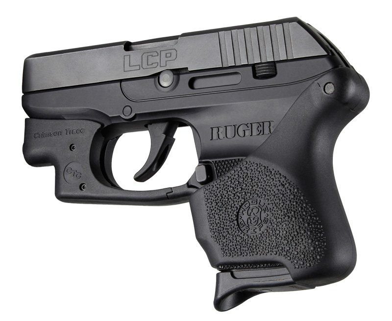 Hogue Handall Hybrid Ruger Lcp Ct Grip Sleeve Black 18110