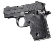 Hogue Sig Sauer P238 AMBI Grip-Recoil Absorbing Rubber Pistol Grip-Black (38080)