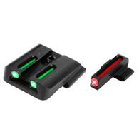TruGlo Smith & Wesson M&P, SD9, SD40, & Shield Fiber Optic Sight Set TG131MP