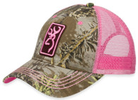 Browning Ladies Conway Cap Realtree Max-1/Pink Womens Hat (308175231)