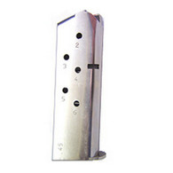 Mec-Gar 1911 Officer's Model Magazine-6 Round .45 ACP Mag-Nickel (MGCO4506N)