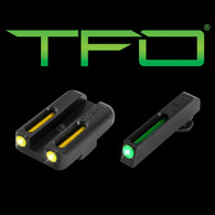 TruGlo Glock 42/43 Green Front/Yellow Rear Tritium Fiber Optic Sights  (TG131GT1B)