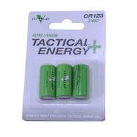 Viridian Tactical Energy Ultra Lithium CR123 3V Batteries Pack of 3 (VIR-CR123-3)
