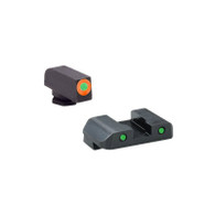 Ameriglo Glock Spartan Operator Tritium Sight Set W/Orange Outline Front (GL-446)
