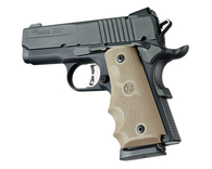 Hogue 1911 Officer's Rubber Grip With Finger Grooves-Flat Dark Earth (43003)