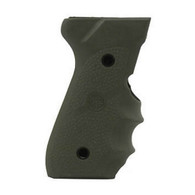 Hogue Beretta 92/96 Series Rubber Grip W/Finger Grooves-OD Green (92001)
