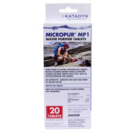 Katadyn Micropur MP1 Water Purification Tablets-20 Pack (8014996)