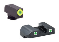 AmeriGlo Glock Low Tritium Sight Set W/Green Ring Front/White Ring Rear (GL-243)