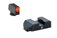 AmeriGlo Glock Low I-Dot Tritium Night Sight Set W/Orange Front Ring (GL-201)
