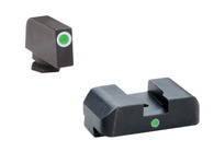 AmeriGlo Glock Low I-Dot Tritium Night Sight Set W/White Front Ring (GL-101)