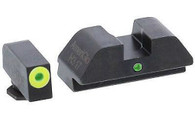 AmeriGlo Glock 42/43 Pro I-Dot Tritium Sight Set W/Lumigreen Ring Front (GL-305)