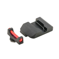 AmeriGlo Glock Low Red Fiber Optic Front Sight W/Black Steel Pro Rear (GFB-103)