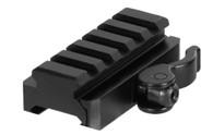 Leapers UTG 5 Slot QD Lever Mount Adaptor & Riser-Med Profile (MNT-RSQD605)