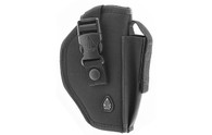 Leapers UTG Commando Belt Holster-Right Hand-Black (PVC-H270B)