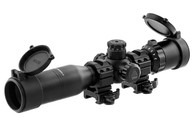 "Leapers UTG 1"" BugBuster 3-12x32 Scope-Side AO, Mil-Dot-W/QD Rings (SCP-M312AOWQ)"