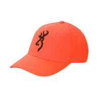 Browning Safety Cap With Black 3D Buckmark-Blaze Orange (30840501)