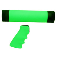 Hogue AR-15/M-16 Kit Overmolded Grip/Forend, Medium Zombie Green-15029