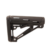 Hogue AR15 Overmold Collapsable Buttstock Mil-Spec Black-15040