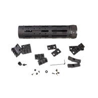 """Hogue AR15 Knurled Aluminum 3 Gun Free Floating Forend Extension 8"""" Overall Length w/Accessories-15066"""