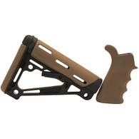 Hogue AR15 Overmold Collapsable Buttstock & Beavertail Finger Groove Grip Com/Mil-Spec Flat Dark Earth-15355