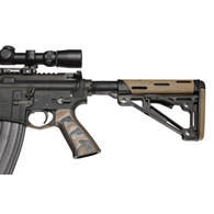 Hogue AR-15 No Finger Grooves Grip Smooth G10 Dark Earth-13767