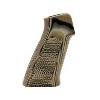 Hogue AR-15 No Finger Grooves Grip Pirahna G10 G-Mascus Green-13138