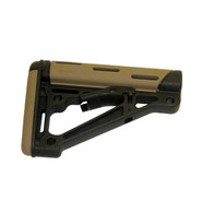 Hogue AR15 Overmold Collapsable Buttstock Mil-Spec Flat Dark Earth-15340