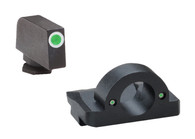 AmeriGlo Ghost Ring Night Sight Set For Glock High-Green Tritium (GL-126)