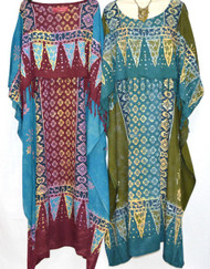 New RIMBA Buttersoft Batik Kaftan Plus Dress - One Size