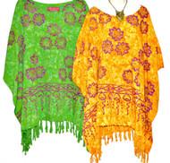 JASMINE Floral  Tunic Kaftan Top Plus Blouse - Freesize
