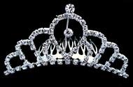 New 70% Off QUEEN Tiara Crown Slide Comb Diamonte Silver Bridal Bridesmaid Brides