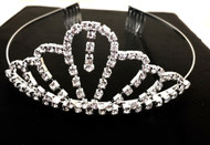 DANGLE Crown Diamonte Tiara Bridal Bridesmaid Princess Wedding Party Headband
