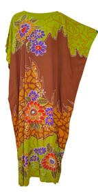 JOHORE Amazing Floral Soft Kaftan Caftan Cool Long Ladies Summer Dress Plus Robe Jilbab Moroccan