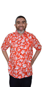 HAWAII Holiday T-Shirt Designer Handmade Cotton Batik Top Shirt Mens Short Sleeved