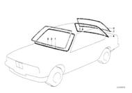 BMW E21 320i Rear Windshield Rubber Seal