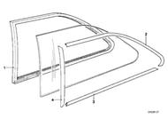 BMW E21 320i Rear Side Window Molding