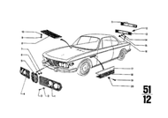 BMW 2800cs 3.0cs Hood Grille