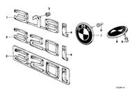 BMW 320 Rear Emblem Badge