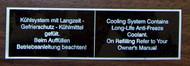 BMW 2002 Cooling System Sticker 1968-1976