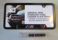 "BMW ""M"" Black License Plate Frame"