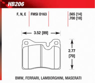 BMW 2002 3.0CSi Front Hawk Brake Pads