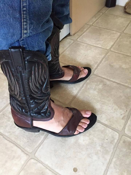 Redneck Boot Sandals, customized cowboy boots, for men