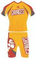 Two Piece Alternate Wrestling Uniform Savage Front by WarriorSport Wear