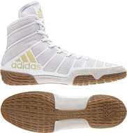 Wrestling Shoes - Adidas adiZero Varner - White/Vegas Gold -/Gum  DA9891 - New For 2018 !