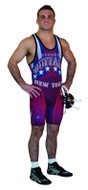 Sublimated Cliff Keen S79REV43J Reversible Sublimated Custom Singlet Red