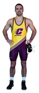 Sublimated Cliff Keen S794339 Diagonal Stripe Custom Sublimated Singlet