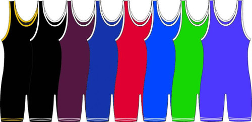 Solid Color Matman Adult Knit Stock Singlet #83