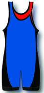 Royal-Red-Black Matman Reversible Lycra Stock Singlet