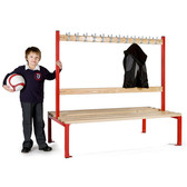 Double Sided School Cloakroom Island Seating 1370(h) x 760(d) x 1500(l)mm (PIS150D)